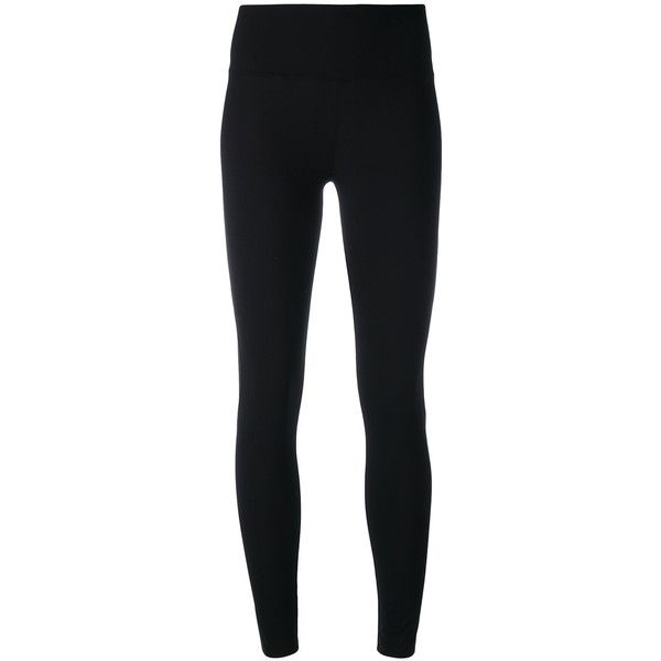 Y-3 stripe detail leggings ($291) ❤ liked on Polyvore featuring pants, leggings, black, spandex leggings, lycra pants, spandex pants, legging pants and lycra leggings