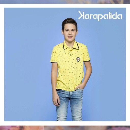 O verão chegou para eles também, com o amarelo vibrante e uma estampa cheia de personalidade. Para arrasar! #karapalida #verão2017 #paraeles