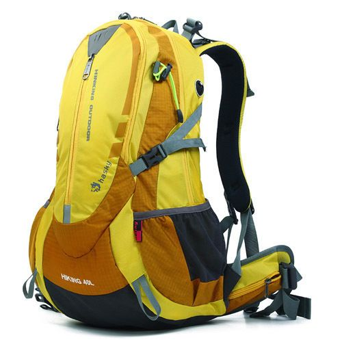 40L Backpack Survival Camping Rucksack Hiking Sports Climbing Travel Bag Yellow  #Unbranded