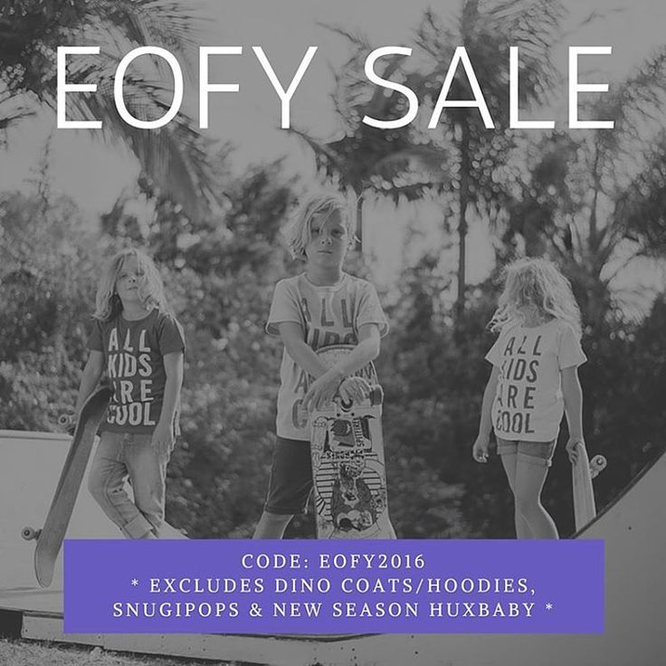 Take 25% off Storewide in our EOFY Sale including already discounted items! (Excludes Dino Coats/Hoodies, Snugipops and New Season Huxbaby)  Use the code 'EOFY2016' at checkout.  Shop www.alittlebitofcheek.com.au
