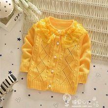 2015 Herfst/Winter Baby truien vesten, Meisjes mode bloemen laciness Holle trui jas, VK1710(China (Mainland))