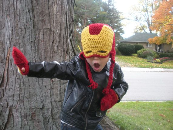 The Original Iron Man Crochet Mask Hat by MilkHoneyHandmade