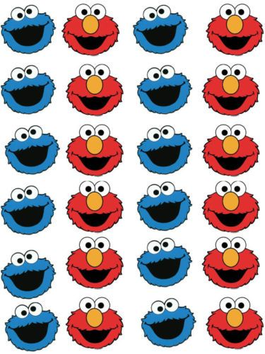 Elmo-and-Cookie-Monster-Cupcake-Fairy-Cake-Wafer-Paper-Toppers-x-24