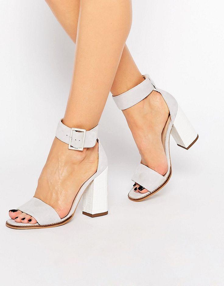 Image 1 of Carvela 2 Part Gray Suede Sandal