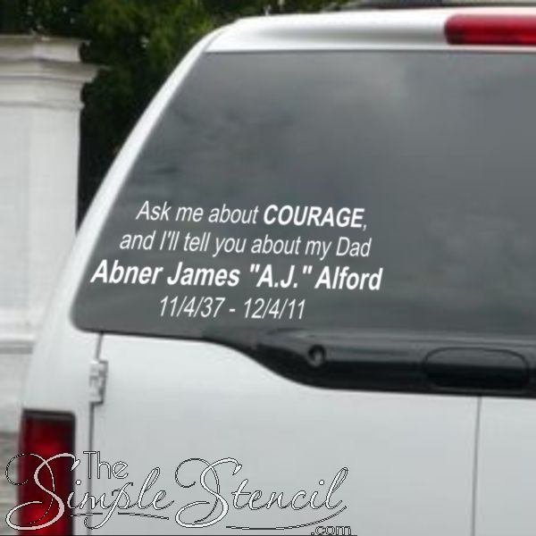 Best In Loving Memory Decals Images On Pinterest In Loving - Car window decals custom made