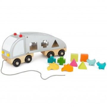 Janod  2 in 1 Shape Sorting Truck
