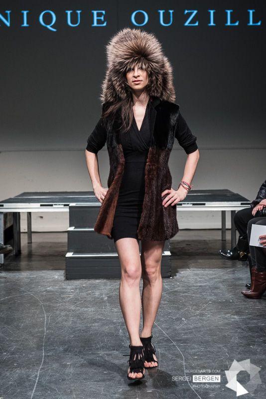 Recycled fur coat Designer: Dominique Ouzilleau Photographer: Seirgei Bergen Model: Camille Dubois-Chalifoux Event: Fashion Preview 5th edition