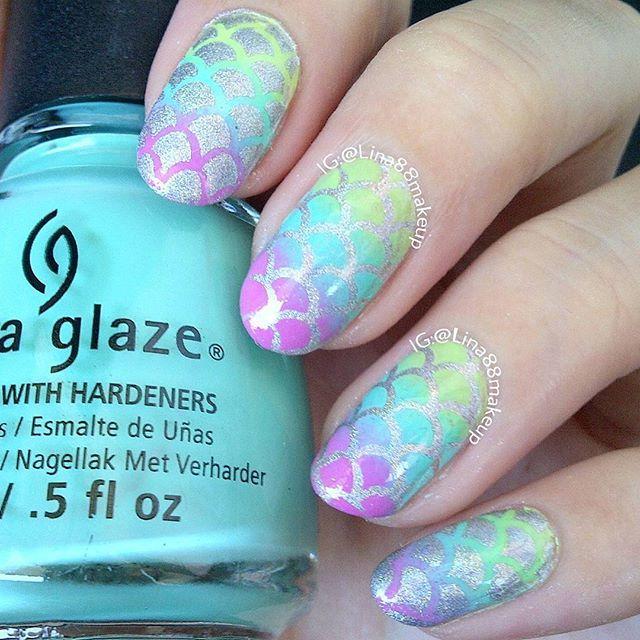 437 mejores imágenes de Mermaid and Nautical Nails en Pinterest ...