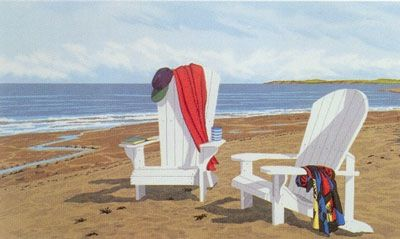 Chairs on The Beach   Joy Laking Gallery