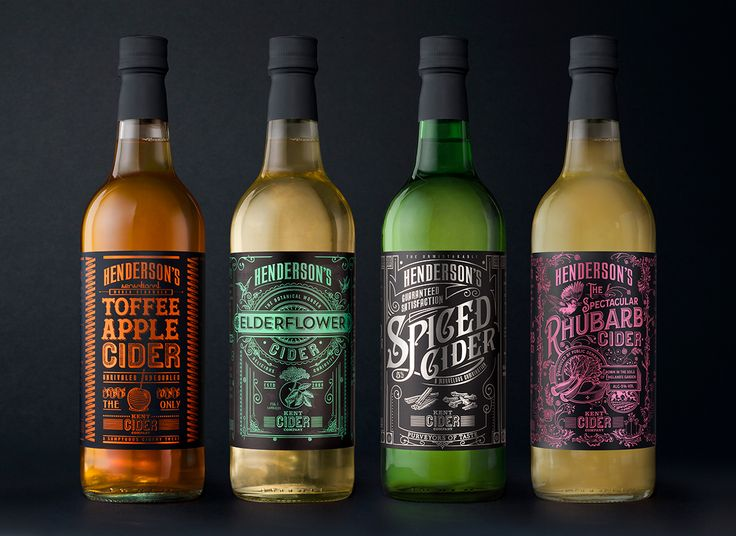 The Spectacular Packaging of Henderson's Spectacular Rhubarb Cider — The Dieline - Branding & Packaging Design