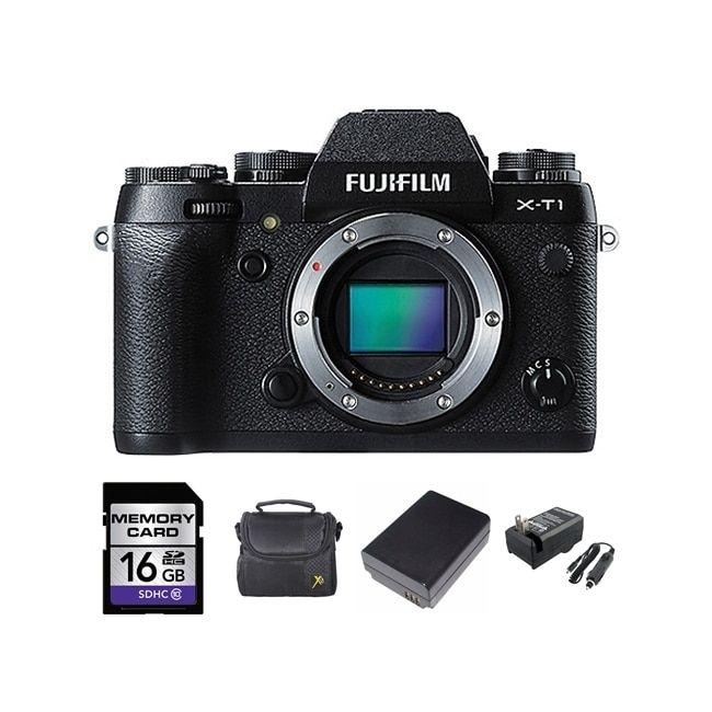 Fujifilm XT1 16MP Digital Camera Body and 16GB SD Card Bundle