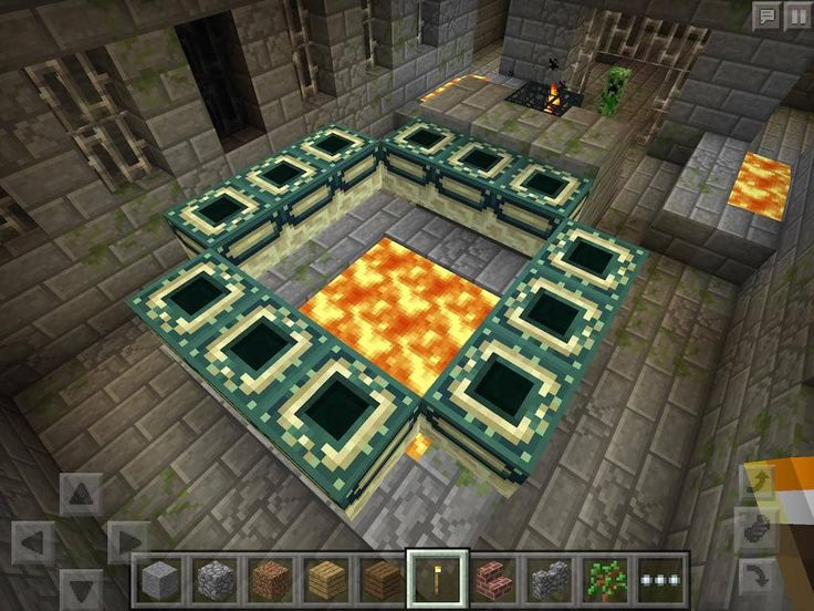 Village At Spawn Has Stronghold With End Portal Below Minecraft Pe