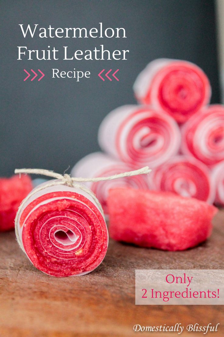 2 Ingredient Watermelon Fruit Leather Recipe                                         http://domesticallyblissful.com/watermelon-fruit-leather/                                    #recipe #watermelon #snack