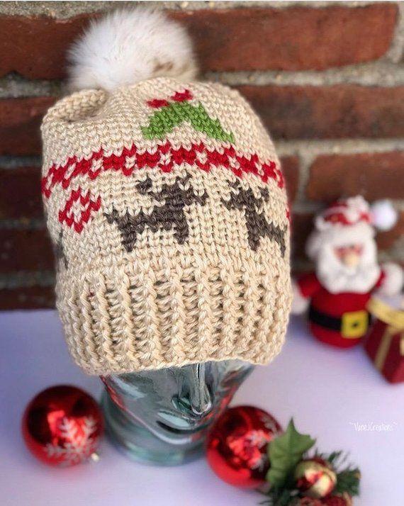 0a0e485f Mistletoe Kisses Beanie PDF DIGITAL DOWNLOAD Crochet pattern, Fair ...