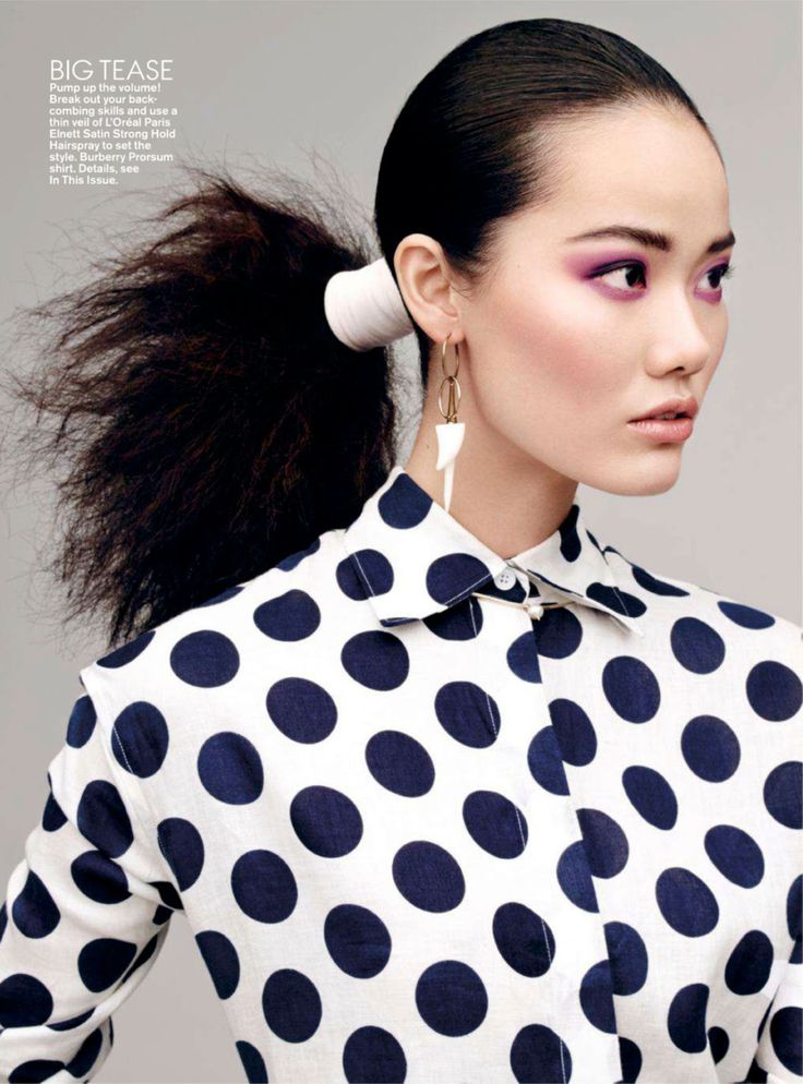 Burberry SS14 shirt | show pony: holly rose, tong zhang and lera tribel by jason kibbler for teen vogue august 2014