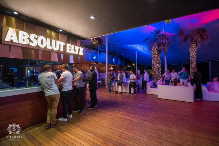 New Absolut Elyx bar on Pool Deck at Shimmy Beach Club. Summer Launch party Pics by Justin Sullivan