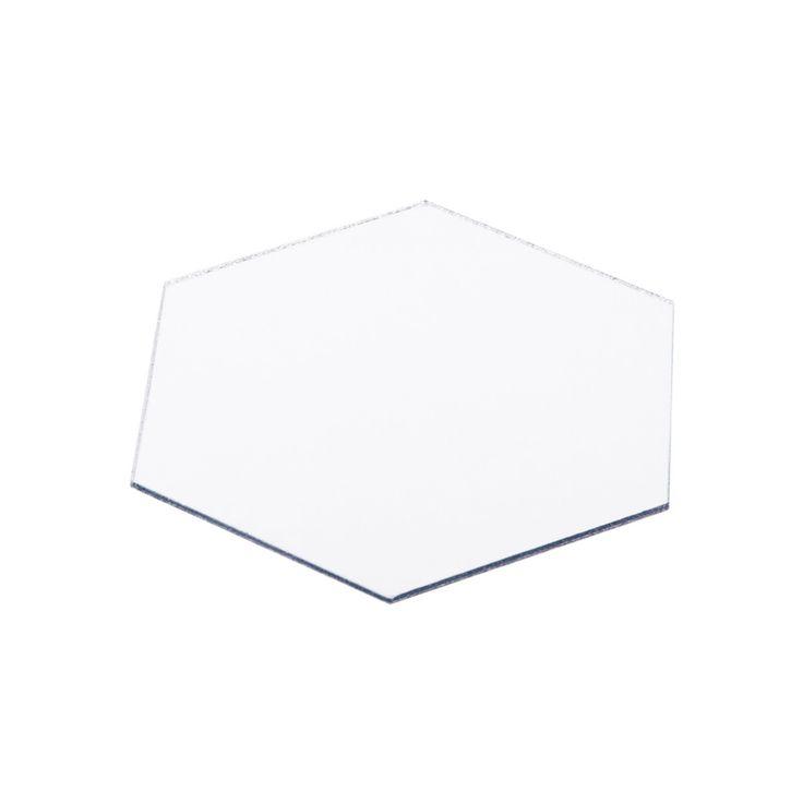 12pcs/set 3D Mirror Wall Stickers Geometric Hexagon Acrylic Wall Sticker Home…