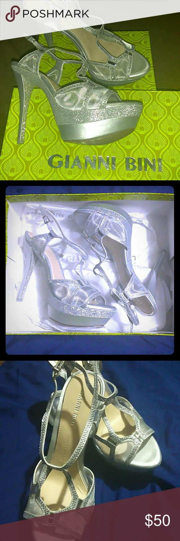 Gianni Bini Heels Absolutely flawless brand new only wore for 2hrs. Size 8.5 Gianni Bin Heels! Perfect for any formal event!! Gianni Bini Shoes Heels
