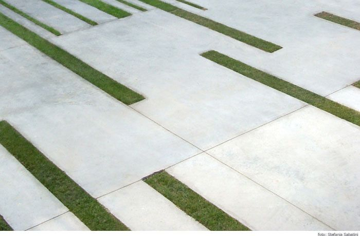 paving and grass pattern f3 paisaje arquitectura