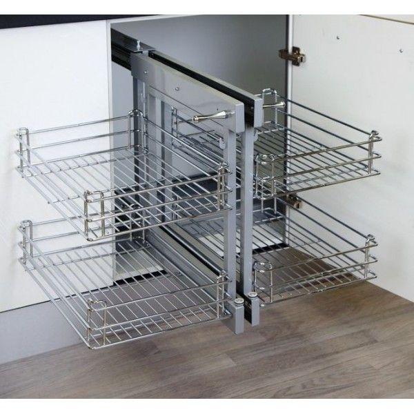 Esquinero m gico extra ble para muebles de cocina - Herrajes para muebles cocina ...