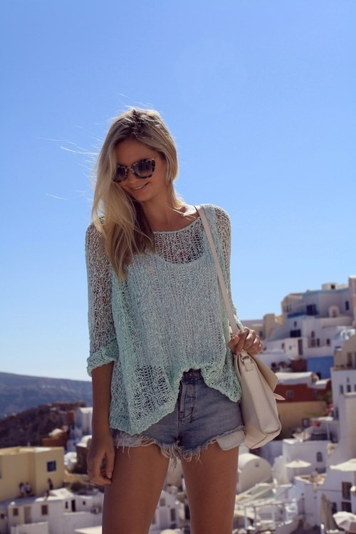 Open knit sweater. love