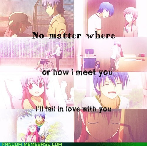 Angel Beats. All of the feels. All of them ~ Quiet.... Hear that, that was the sound of my feels being thrown on the floor