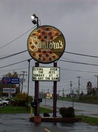 santoras pizza west seneca - a new found place for us for good pizza and close to home
