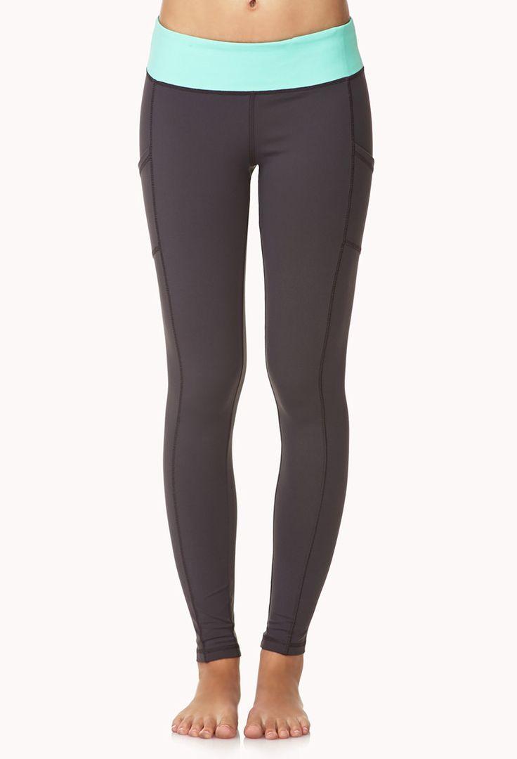 Side-Pocket Skinny Workout Leggings | FOREVER21 - 2000051667.