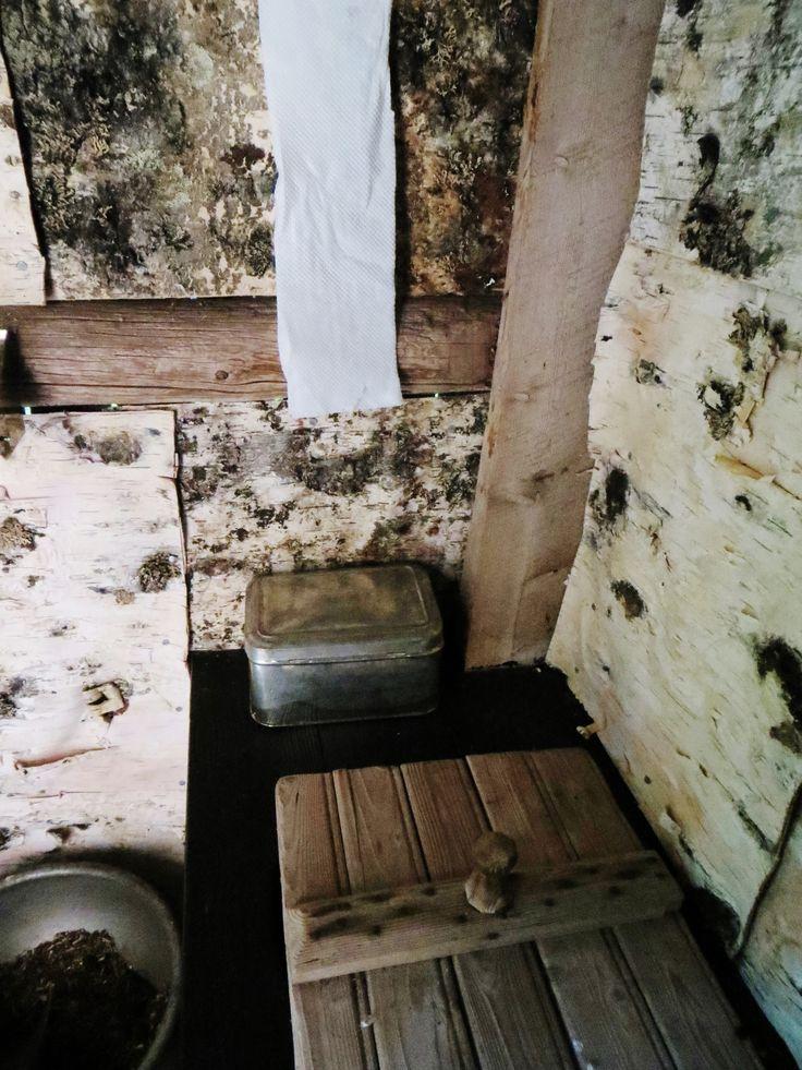 the outdoor toilet