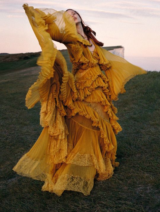 Julia Banas in 'Wuthering Heights' By Yelena Yemchuk for Vogue China October 2016 in Roberto Cavalli