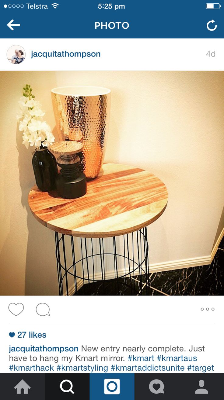 Laundry hamper and cheese board into side table