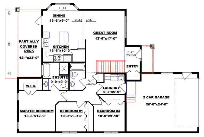 Bungalow plan 2011549 with garage by E-Designs