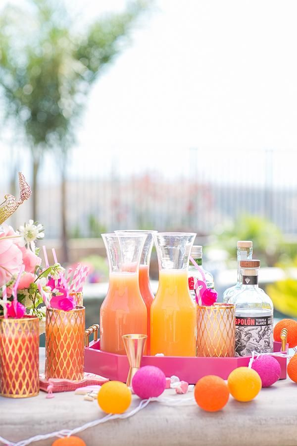 How to throw a themed flamingo pool party by Sugar & Charm