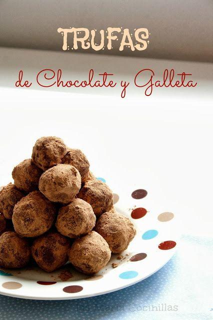 Trufas de chocolate y galleta   Las maría cocinillas