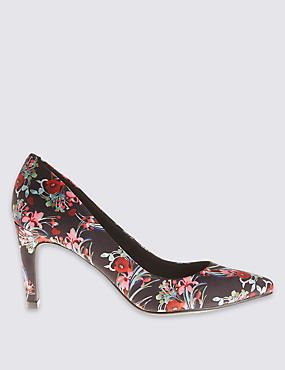 Stiletto Floral Court Shoes with Insolia®