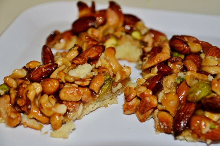 rustic nut bars | cashews, almonds, pistachios dessert bars