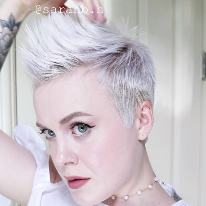 how to make a faux hawk with short hair