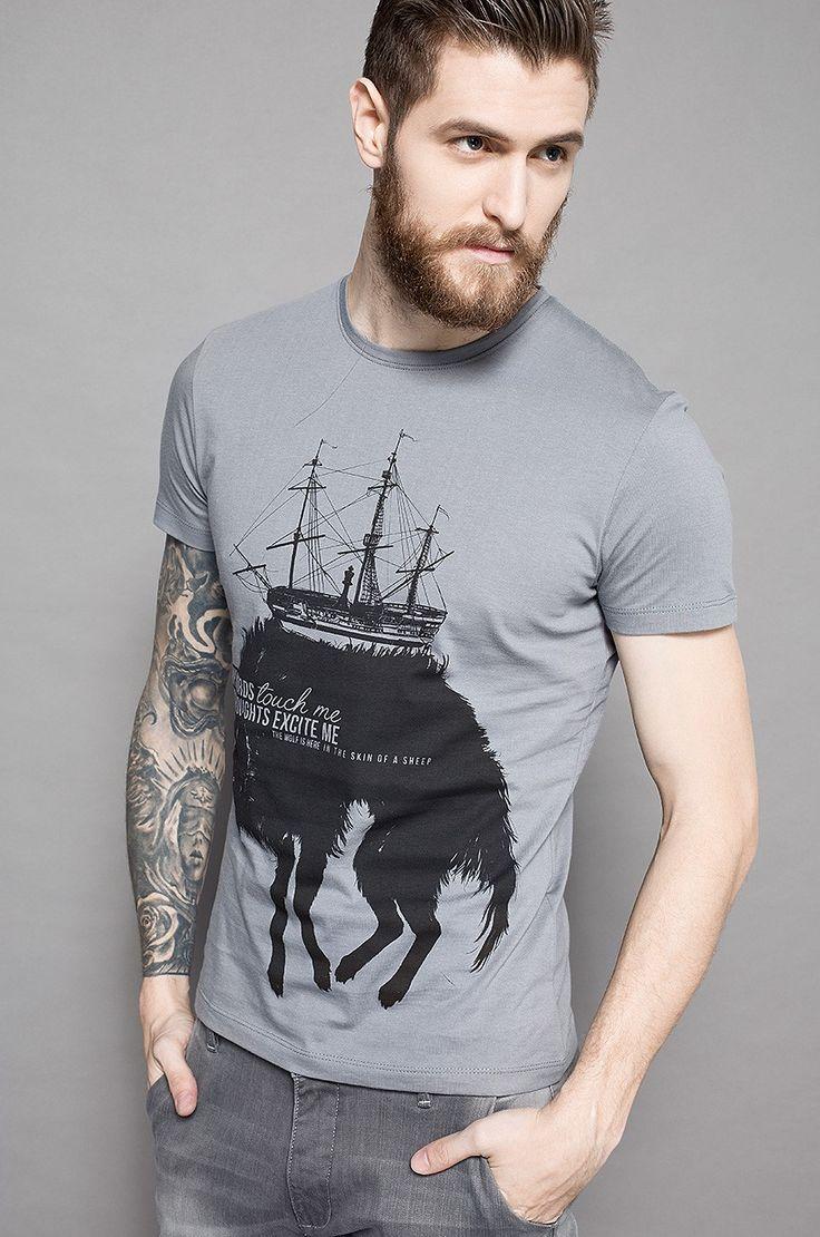 Zobacz produkt Medicine - T-shirt Grafika Polska kolor szary  RW15-TSM655w…