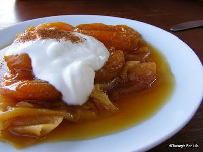 Poached Apricots on Phyllo with Yogurt, Olive Garden Restaurant, Kabak