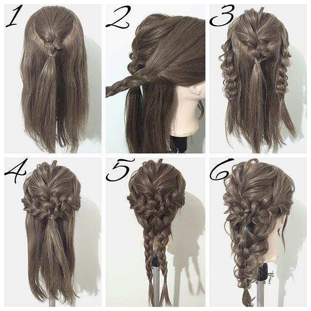 Tutorial for mermaid braid #WeddingHairShort