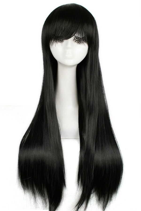 Sailor Moon Sailor Mars Cosplay Wig Black Long Straight Bangs Anime Hair Wigs Cosplay Cosplay Store Cosplay Wigs