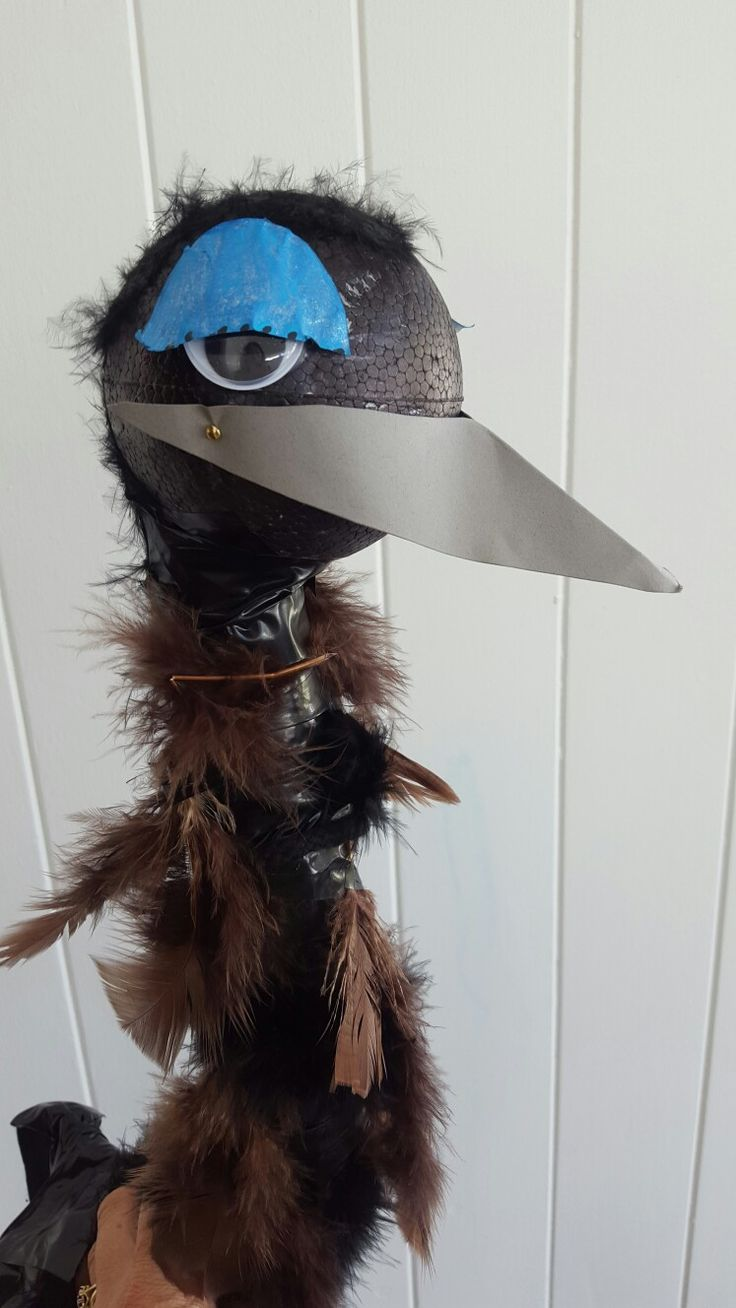 Emu costume (worn with black tights and fluffy skirt)