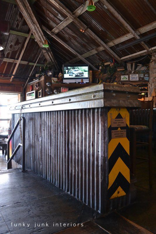Junk filled pub decorating you won't believe! Mission Springs Brewing Company - Funky Junk InteriorsFunky Junk Interiors