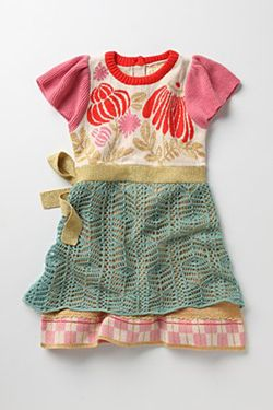 If I were a little girl, I would totally wear this dress. And I'd wear a big girl's version if the skirt were longer... love the layers!
