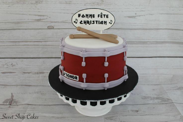 Red drum birthday cake