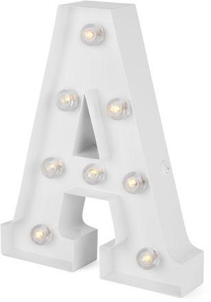 Kjøp Alice & Fox Bokstavlampe A, Clear White | Jollyroom