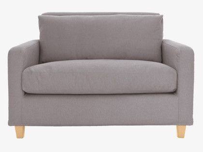 CHESTER Grey Fabric Compact Sofa
