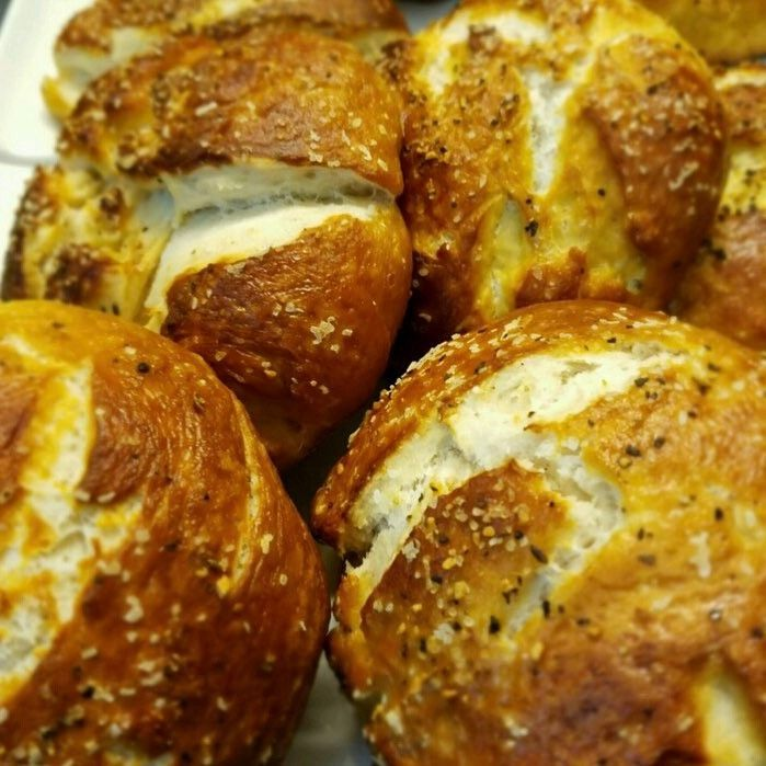 [Pro/Chef] Pretzel buns I made for dinner service tonight to go with house smoked pastrami