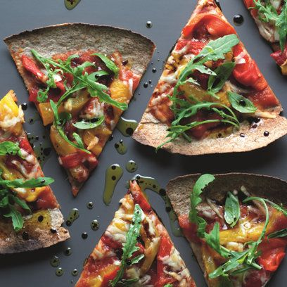 Lorraine Pascale's Tortilla Pizza recipe. For the full recipe, click the picture or visit RedOnline.co.uk