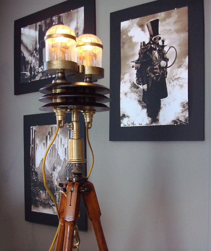Good Steampunk Tripod Floor Lamp + Sam Van Olffensu0027 Art From Art Via Art Donovan.